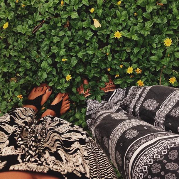 pants hippie boho chic shoes