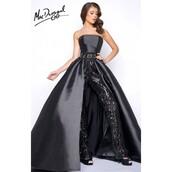 dress,customized,black dress,mac duggal prom dresses