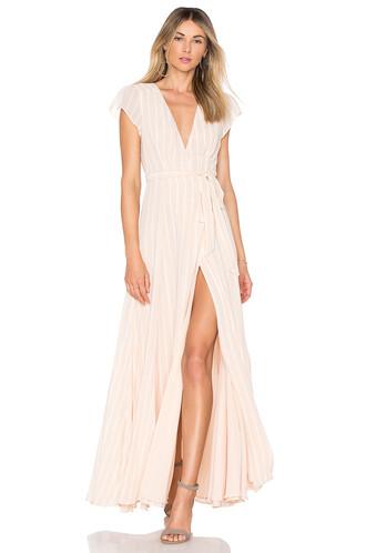 dress wrap dress cream