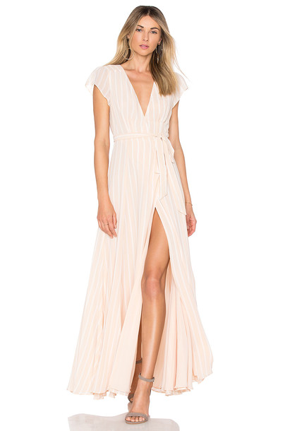 TULAROSA dress wrap dress cream
