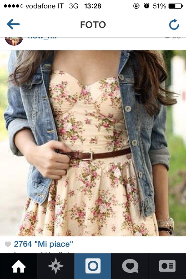 dress flowers vintage flowers summer dress summer jacket