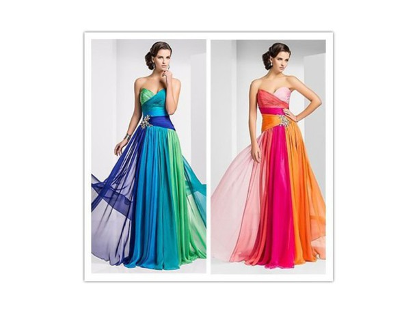 dress ombre dress blue dress long dress prom dress orange dress pink dress girly dress sweet elegant dress mint dress