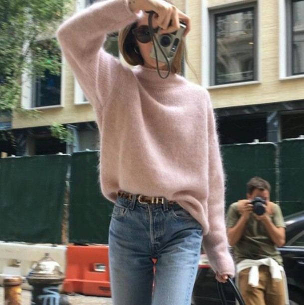 sweater pink pink sweater