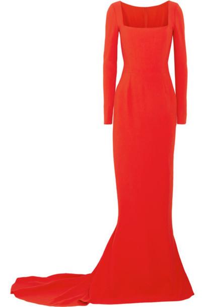 Stella McCartney - Giorgelli Stretch-crepe Gown - Tomato red