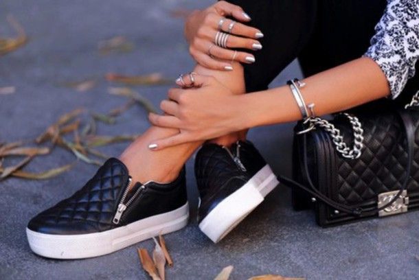 shoes black shoes jeans black zip leather sneakers zippers bag platform shoes sneakers slips ons