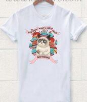 t-shirt,clothes,fashion,menswear,women,summer,grumpy cat,Chrissy,funny,t shirt print,printed t-shirt,mens t-shirt,women t shirts,funny shirt,cartoon