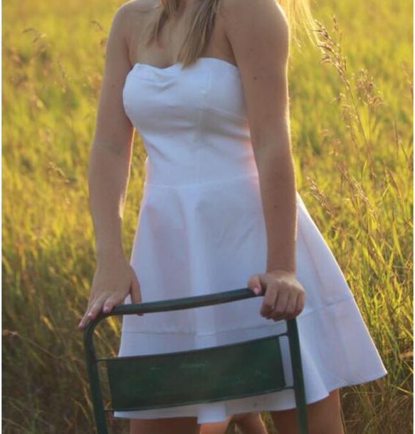 dress white dress sundress summer dress white