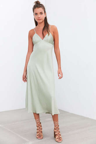 dress mint dress slit dress