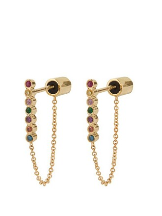 rainbow earrings gold earrings gold yellow jewels