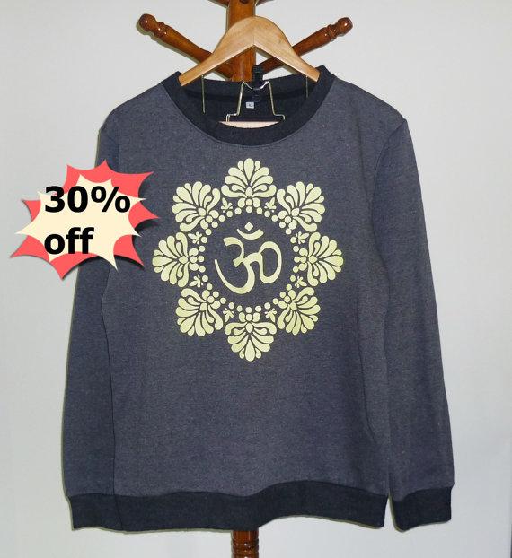 Flower graphic om shirt size s m l xl xxl cute clothes ,ohm shirt women men winter jumper sweatshirt