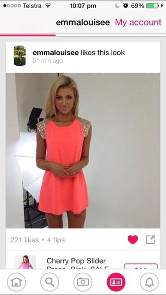 dress neon bright orange pink party fluro style fashion