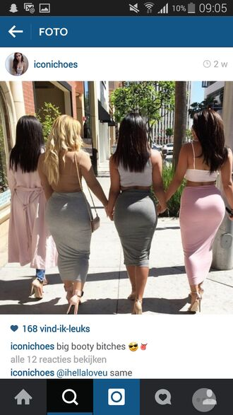 skirt booty cool dope gold tight grey nude pink maxi skirt pencil skirt long