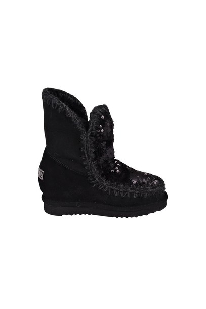 Mou short black sequins shoes