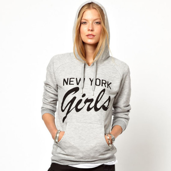 blouse new york grey girl