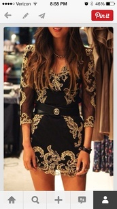 dress,swimwear,black and gold dress,belt,clothers,mini dress,clothes,outfit,outweare,black dress,black and gold,party,party dress,gold dress,embroidered dress,belt   dress,black,gold buckle,wrap around,baroque dress,jewels,little black dress,long sleeve dress,sexy party dresses,gold,gorgeous dress,gold lace,lace dress,gold embroidered,black lace dress,with sleves,lace,tight,karenmillen,belted,homecoming dress,brunette,red lipstick,tan,cute dress,short dress,dress with belt,embroidered,pinterest,black and gold patterned,long sleeves,elegant dress,mesh,embellished,christmas dress,embroided dress,black short dress,gold black dress,all black and gold wishlist,casual dress,date outfit,gold overlay,boho dress,going,red dress,short fitted dresses
