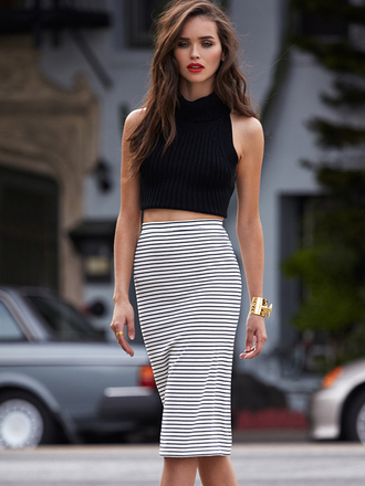 tank top inspo beauty grunge style crop tops luxury stripes skirt