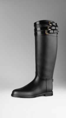 Belted Equestrian Rain Boots | Burberry