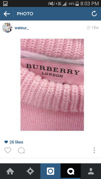 burberry sweater pink london