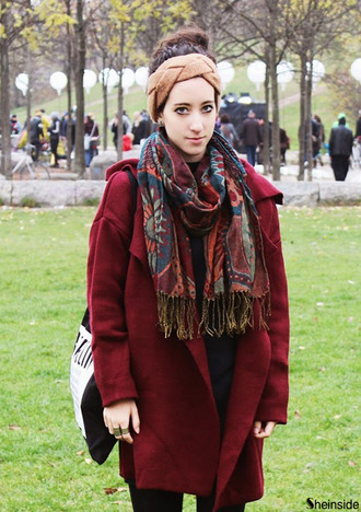 scarf girl sheinside beautiful