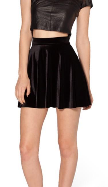 2014 NEW G18 2014 women high waist Velvet pleated skirts 2014 new fashion For women Velvet Black Skater Skirt S M L XL-in Skirts from Apparel & Accessories on Aliexpress.com