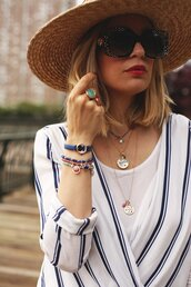 jewels,hat,tumblr,jewelry,accessories,Accessory,ring,bracelets,necklace,coin necklace,sun hat,sunglasses