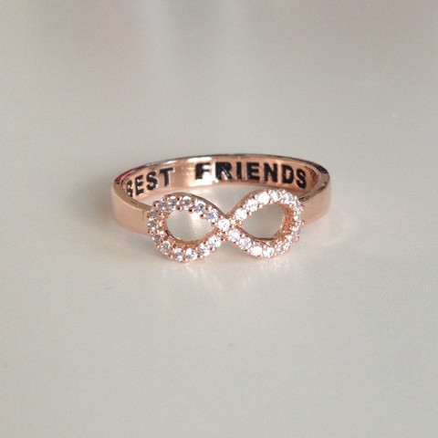 louun — Crystal Best Friends Rose Gold Ring