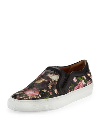 Givenchy Floral-Print Slip-On Sneaker - Bergdorf Goodman
