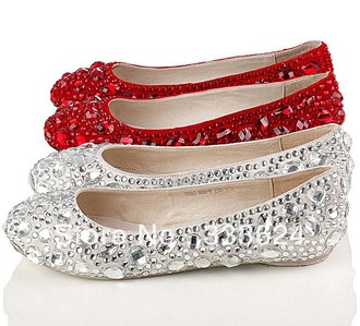shoes flats sandals crystal crystal shoes red shoes white shoes