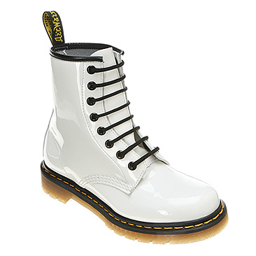 White Patent Lamper Dr Martens Fluorescents 8 Eye Boot [11821104 ...