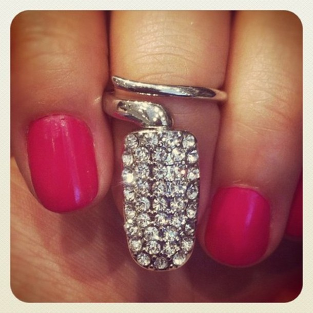 jewels jewerly silver ring pink ring silver