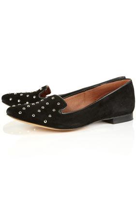 Kosy black studded slippers