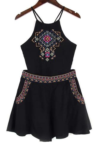 dress black romper fashion style trendy summer