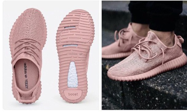 Shoes Pink Pastel Adidas Yeezy Pink Sneakers Low Top