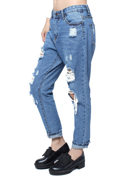 Meana Distressed Denim Pants   Outfit Made