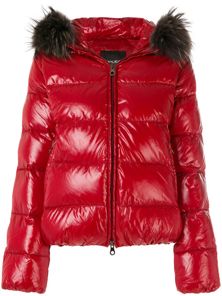 Duvetica jacket hooded jacket women red