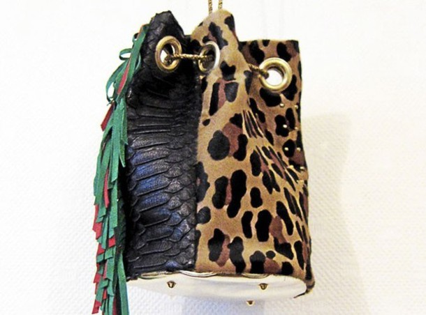 bag bucket bucket bag leopard