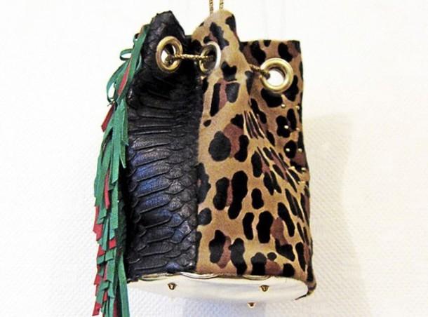 bag bucket bucket bag leopard print