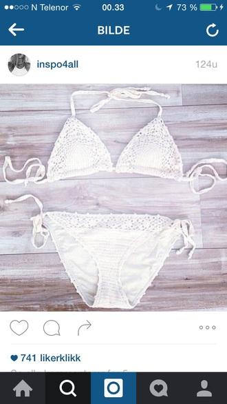 swimwear bikini bikini top bikini bottoms white white swimwear summer