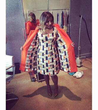 dress midi dress coat mindy kaling the mindy project instagram