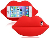 phone cover,3d case,red lipstick,samsung galaxy s4,case for samsung s4
