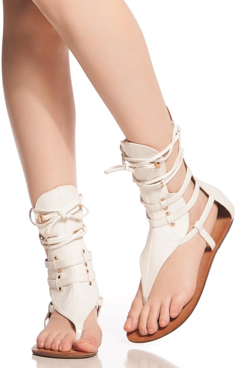 Sandals shoes sale - White Faux Leather Lace Up Sandals Cicihot Sandals Shoes Online Store Sale Sandals Thong Sandals Women S Sandals