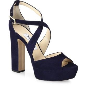 jimmy choo shoes blue high heels