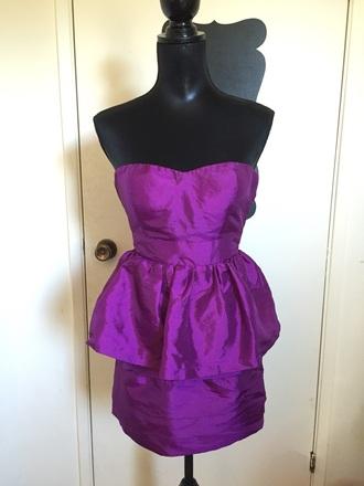 dress purple peplum dress