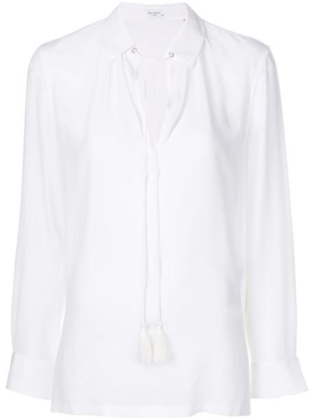 Equipment - tassel string blouse - women - Silk - M, White, Silk