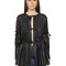 Light faux leather gathered jacket