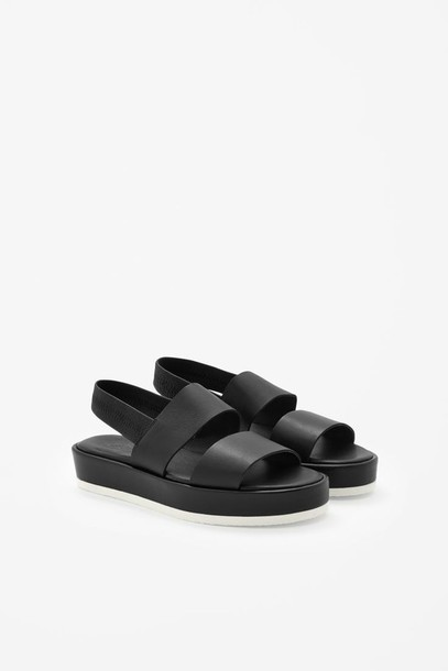 shoes black chunky sandals indie platform shoes