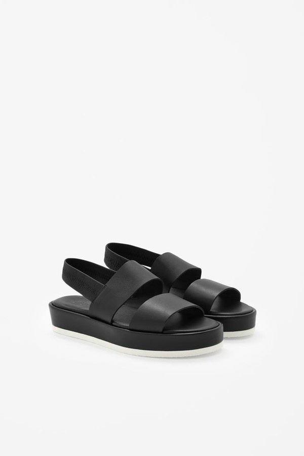 shoes black chunky sandals indie platform shoes