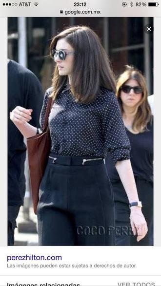 blouse dots classy casual stylish