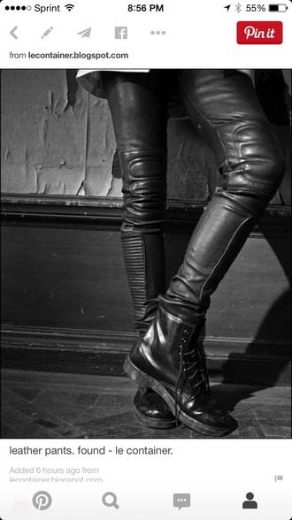 leather pants punk skinny pants alternative rebel attitude