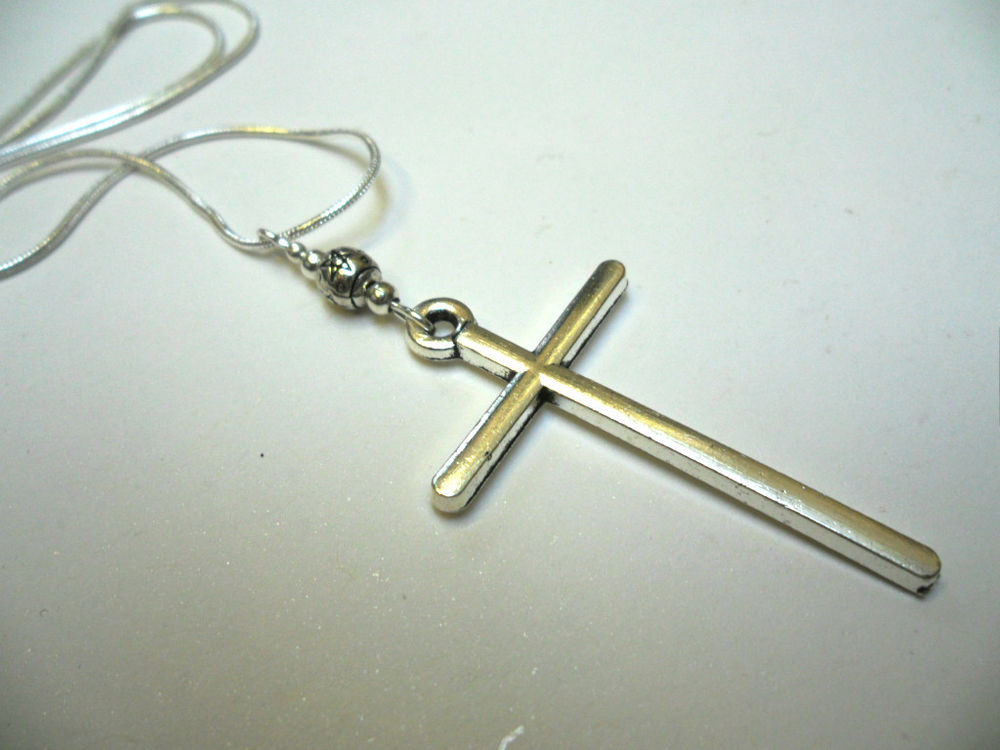 A LOVELY TIBETAN SILVER LARGE CROSS/CRUCIFIX NECKLACE. GOTH. NEW. | eBay